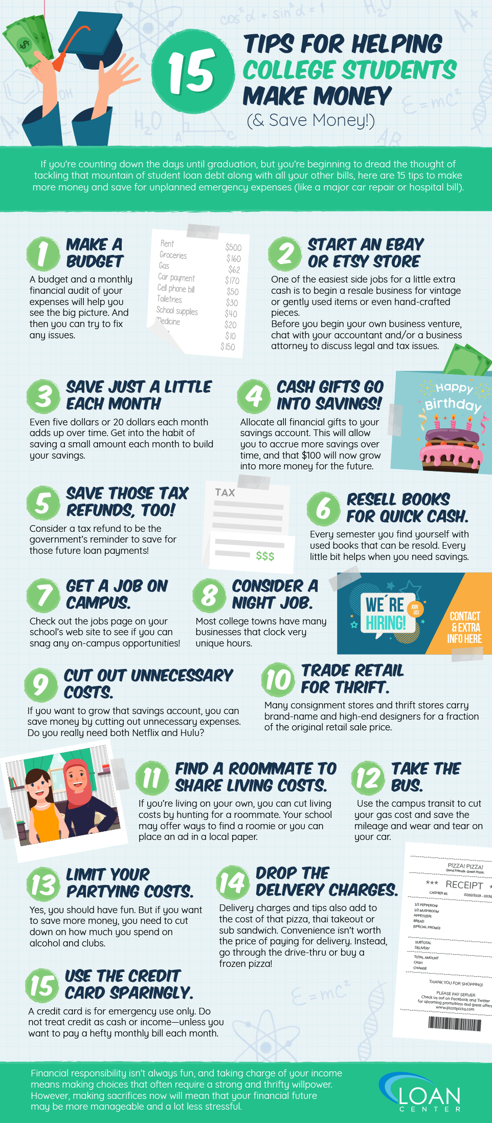 15 Tips for helping college students make money