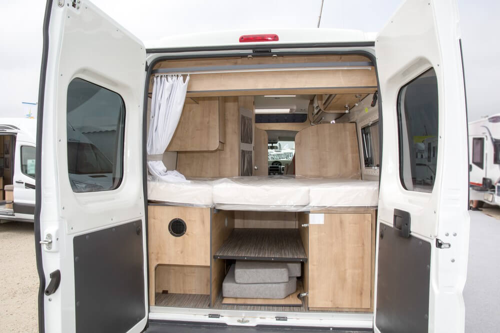 Storage Space in the back of an RV