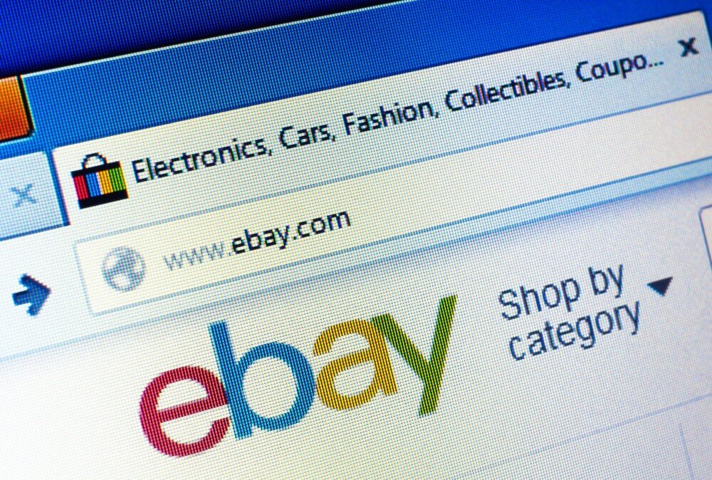 A screen grab of Ebay auction site.