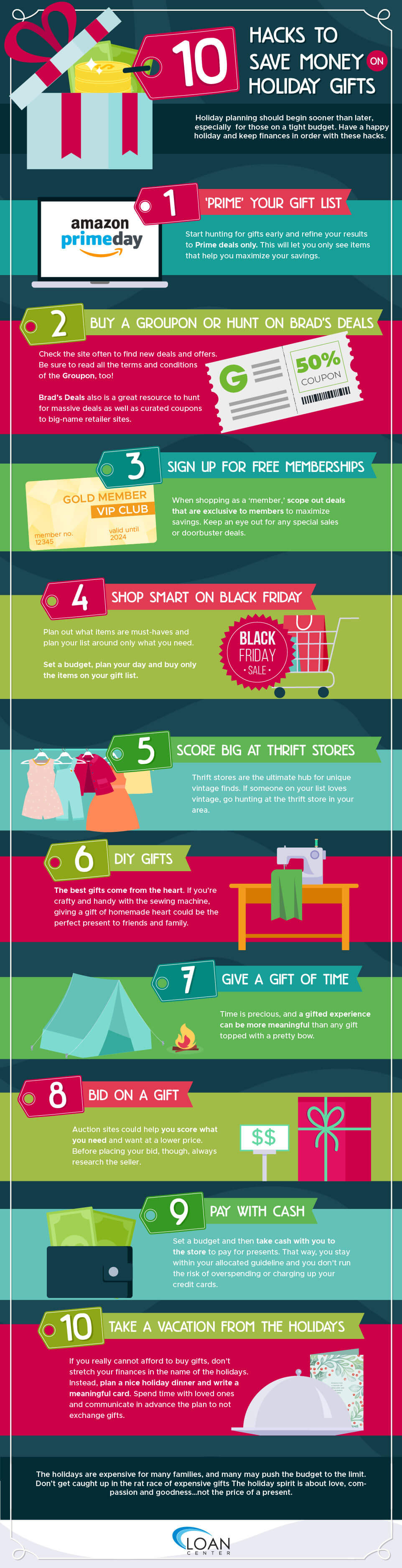 How to Save Money on Holiday Gifts Infographics